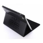 Case met Stand Apple iPad 3 Leather Croco Black