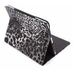 Case met Stand Apple iPad 3 Leather Leopard Black